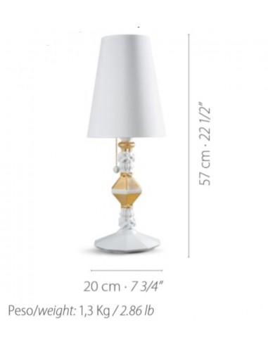 Lámpara de mesa de porcelana...