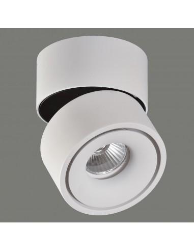 Foco de techo LED de metal en blanco...