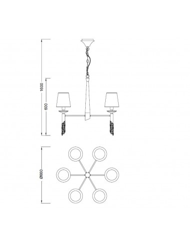 Lámpara de techo Tiffany 6
