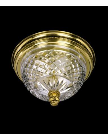 Plafón de cristal tallado 5589-25
