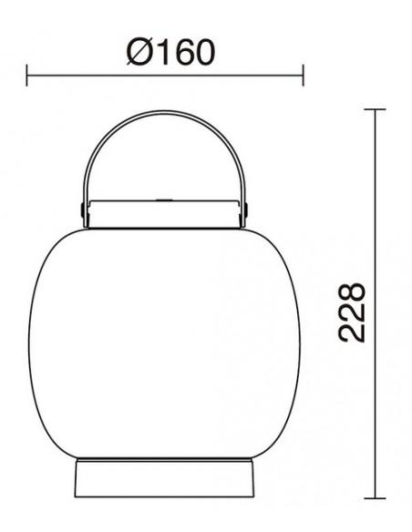 Lámpara portátil de exterior antracita Bubble- Novolux Lighting