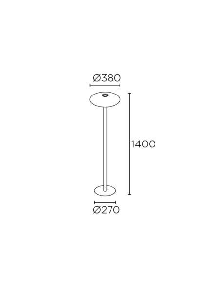 Lámpara de pie H – Leds C4