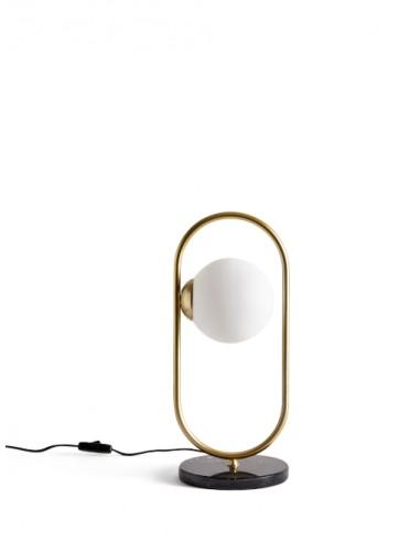 Lámpara de mesa Pea con 1 luz con base de hierro – Massmi