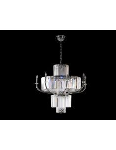 Chandelier 8 Lights Crystal
