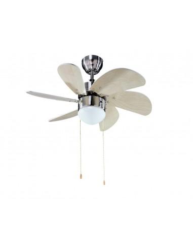 Ventilador Cromo-Arce