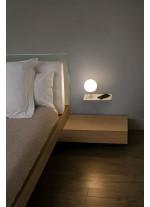 Aplique der. LED SMD con cargador de móvil, USB y regulador de intensidad - Niko - Faro