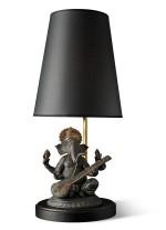 Lámpara de mesa de porcelana – Ganesha con veena – Lladró
