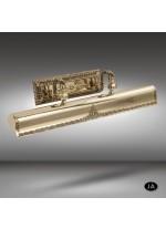Iluminacuadros clásico disponible en 3 acabados con 3 luces - 074N - Riperlamp