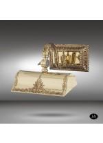 Iluminacuadros clásico de latón en 3 acabados - 074Q - Riperlamp