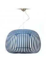 Lámpara de techo con pantalla fabricada en material textil chins en 8 colores y 3 tamaños - Esteno - IDP Lampshades