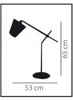 Lámpara de mesa de metal acabado blanco – Kino Pantalla – IDP Lampshades
