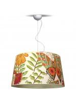Lámpara colgante con pantalla 52% algodón con dibujo Ø 50 cm - Estampados - IDP Lampshades