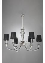 Chandelier Transparent 6 Lights
