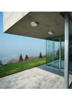 Aplique de pared y techo de exterior de aluminio gris Ø 27 cm – Pampero – Dopo - Novolux