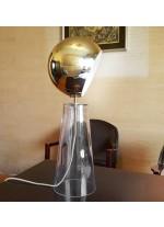 Lámpara de mesa de cristal y latón – Werkbund – MYO
