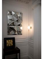 Aplique de pared estructura oro con difusor de cristal – Le Vita - Faro
