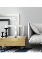 Lámpara de mesa LED de metal acabado en plata Ø 15 cm 3000K - Sáhara - Mantra