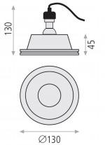 Lámpara empotrable de escayola Ø 13 cm – Yota – ACB Iluminación