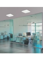 Aplique de techo cuadrado LED de metal y acrílico blanco en 2 medidas – Uzza – ACB Iluminación