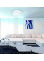 Aplique de techo LED de metal y acrílico con control remoto 3000-6500K - Diamante - Mantra
