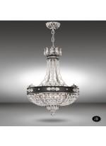 Lámpara de Suspensión Cristal Asfour o Swarovski 6 Luces - Arianna - Riperlamp
