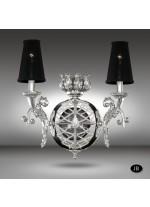 Aplique de Pared Cristal Asfour o Swarovski 3 Acabados - Arianna - Riperlamp