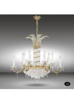 Lámpara de techo clásica de 12 y 18 luces con cristales Asfour y Swarovski - Samara - Riperlamp