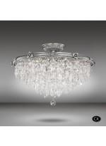 Lámpara de techo clásica con cristales Asfour y Swarovski - Samara - Riperlamp