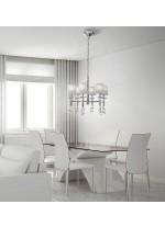 Lámpara de techo de metal en 2 acabados 6 luces - Tiffany - Mantra