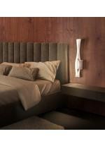 Aplique de pared LED de metal acabado en plata 3000K - Sáhara - Mantra