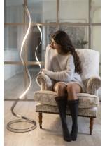 Lámpara de pie LED regulable de metal acabado en plata 3000K - Nur - Mantra