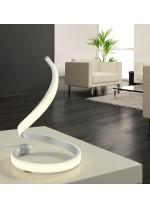 Lámpara de mesa LED de metal acabado en plata 3000K - Nur - Mantra