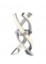 Lámpara de mesa LED de metal acabado en plata y cromo 3000K - Espirales - Mantra