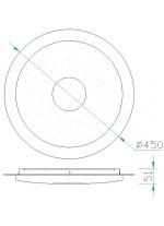 Aplique de techo LED de metal con control remoto 2700-6500K - Virgin - Mantra