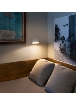 Aplique de pared moderno LED con pantalla orientable - Aurea - Faro
