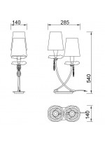 Lámpara de mesa 2 luces - Sophie - Mantra