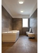 Plafón de techo para baño LED SMD de metal cromo y cristal - Cloe - Faro