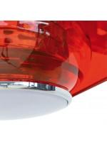 Ventilador de techo acabado rojo con 3 aspas – Cefiro – Exo – Novolux Lighting