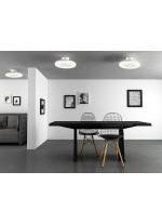 Aplique de techo LED de aluminio en 4 acabados y 2 tamaños - Discóbolo - Mantra