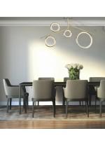 Aplique de techo en oro/cromo LED – Olimpia – Mantra