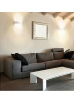 Aplique de pared blanco de acero LED 3000K – Deneb – Exo – Novolux