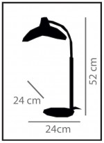 Lámpara de mesa de metal en 2 acabados – Kasteli – IDP Lampshades