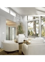 Lámpara colgante vintage de acero blanco – Tess – Exo – Novolux