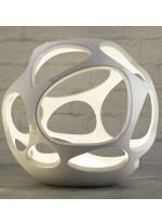 Lámpara de pie de polímero blanco 3 luces Ø 55 cm - Orgánica - Mantra