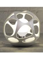 Lámpara de mesa decorativa de polímero blanco Ø 27 cm - Orgánica - Mantra