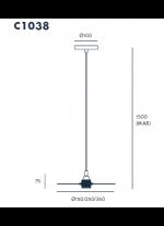 Lámpara colgante cromo varios diámetros – Disc – Aromas