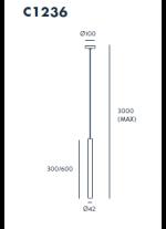 Lámpara colgante disponible en dos tamaños – Nico – Aromas
