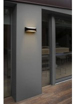 Lámpara aplique formas futuristas color gris oscuro – View – Faro