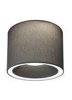 Plafón redondo con dos luces y pantalla chins negra disponible en tres tamaños – Stac – IDP Lampshades
