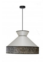 Lámpara colgante con pantalla en cotón blanco – Gatsby – IDP Lampshades